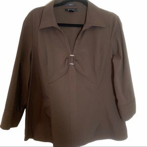 5/25.00 Style & Company Brown Blouse
